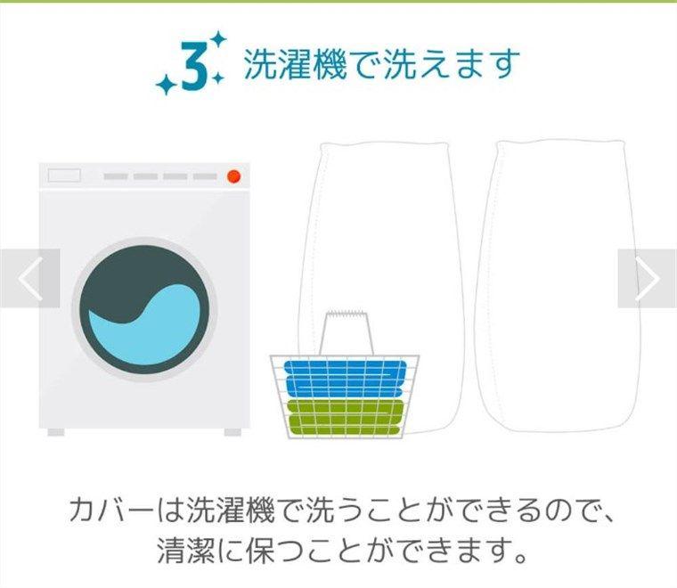 ヨギボーのカバーは洗濯機で洗える