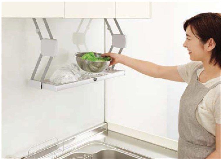 キッチンの仮置棚クイックパレット