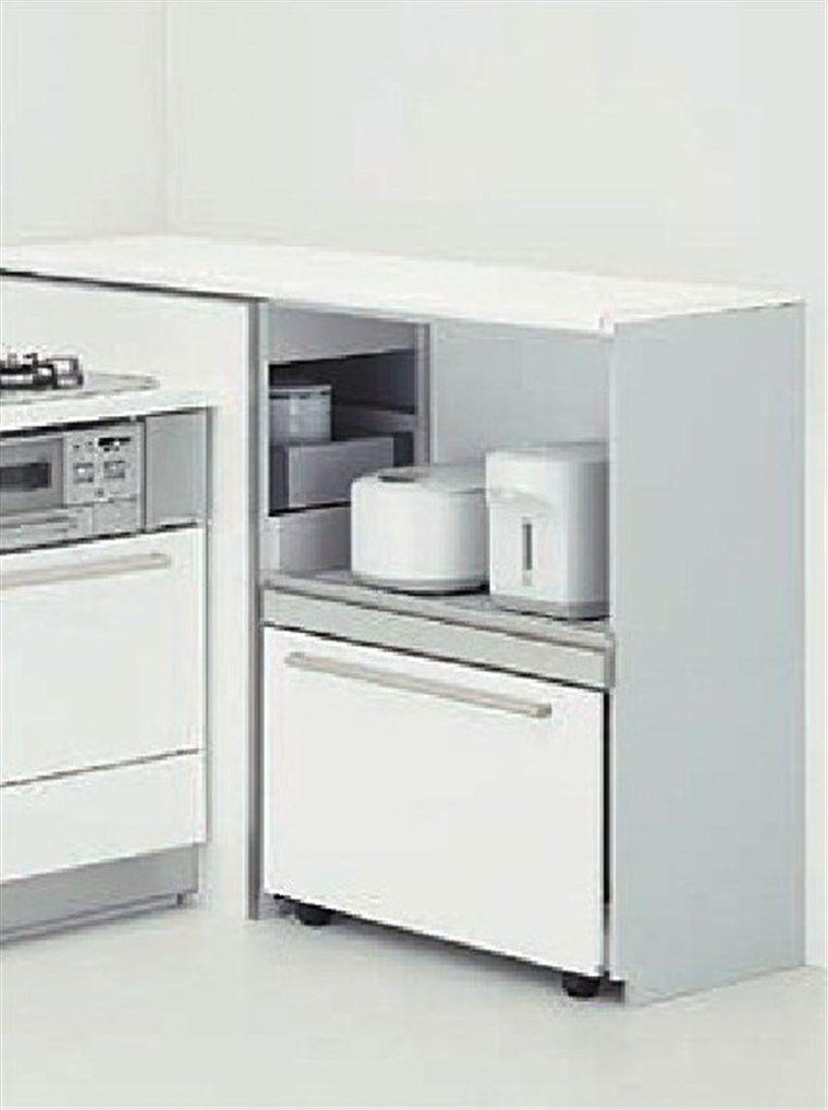 キッチン収納コーナー家電収納