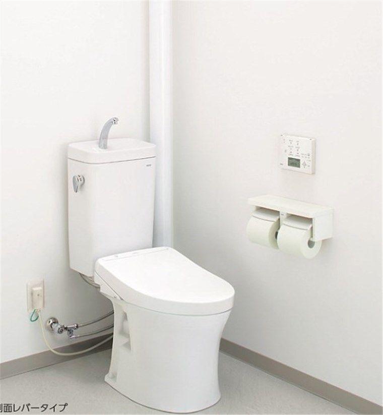 立管に直接排水管をつないでいるトイレ