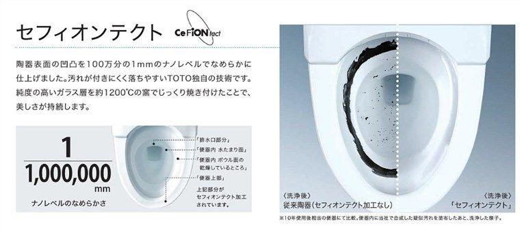 TOTOのトイレ、セフィオンテクト