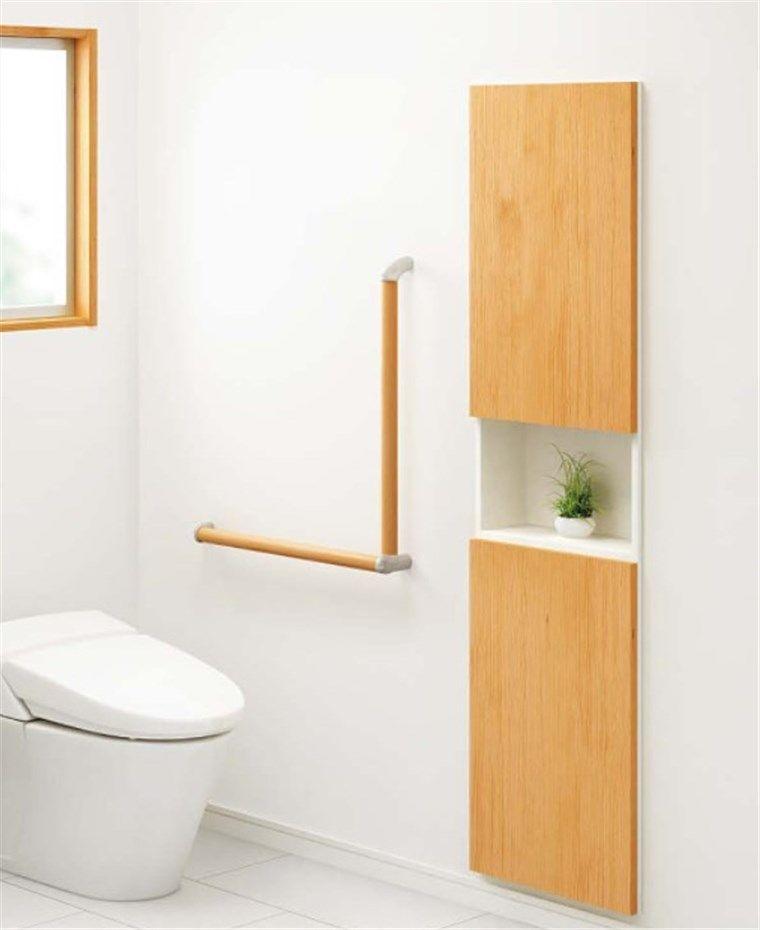 トイレのリフォーム、埋込収納