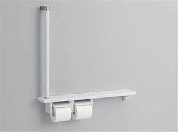トイレのリフォーム、手摺付紙巻器